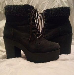 Gray Heeled boots